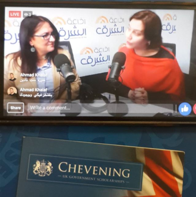 Great interview @sabanadine,  Chevening Alumna, President of  Akkar...