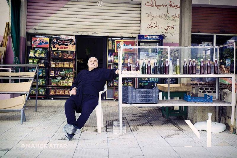 "Meet Jamil .. in his grocery store in  Barouk. ""I've always wondered how... (Nab` As Safa, Mont-Liban, Lebanon)"