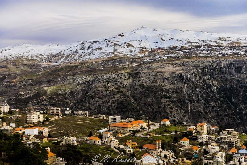 clouds  mountain  snow  church  Lebanon  baskinta  zaarour  ... (Baskinta, Lebanon)