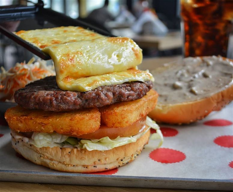 The All New Thrilling Raclette Burger Comeasyouare  burger  lebanon ... (Crepaway)