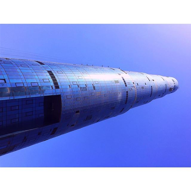 The World is Blue!.... blue  beirut  sky  tower  lebanon  glass ... (Sama Beirut)