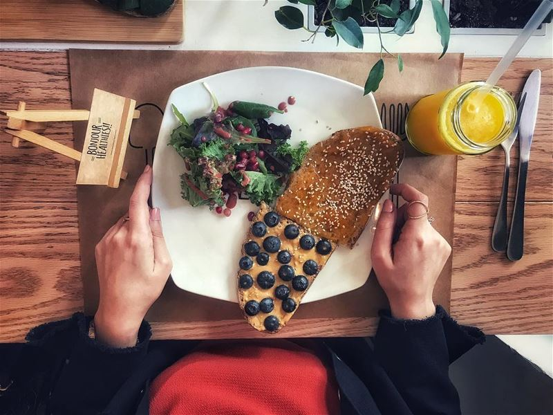 Bonjour Healthies 🥞 tryingtobehealthy  breakfastbarn  behealthy  healthy... (Breakfast Barn)