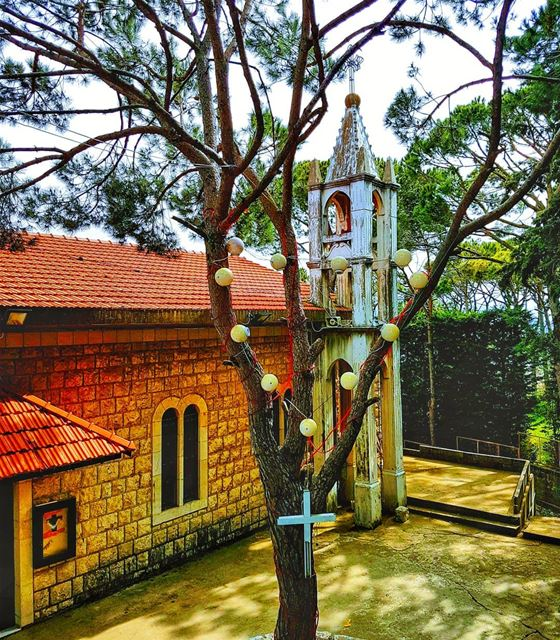 An old church in the woods  church  authentic  old  beautiful  ig_lebanon ... (Baabdâte, Mont-Liban, Lebanon)