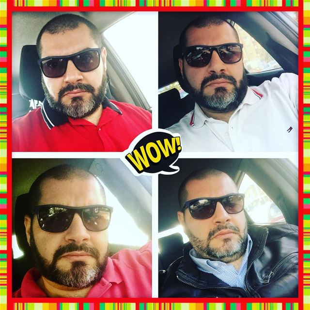 me  myself  selfie  abou ja2ra  mood  look  beard  seasons  car  driver ...