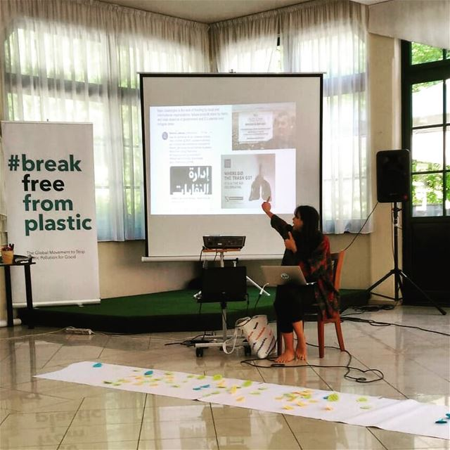 At  ZeroWaste Europe presenting  balaplastic, the  ecosouk, pushing for ... (Park Maksimir, Zagreb)