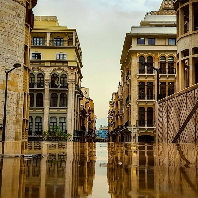 Some Clouds say Goodbye with tears..Others say Hello back with a yellow... (Downtown Beirut)