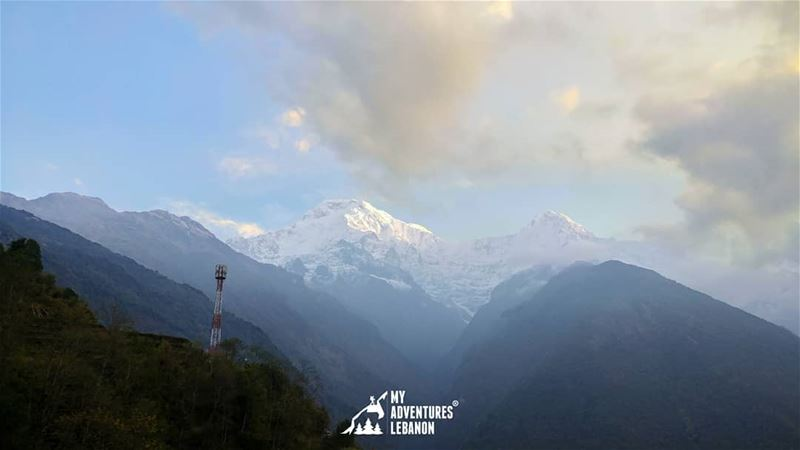 Annapurna Base Camp also known as ABC, situated at an altitude of 4130m. A... (Himalayas)