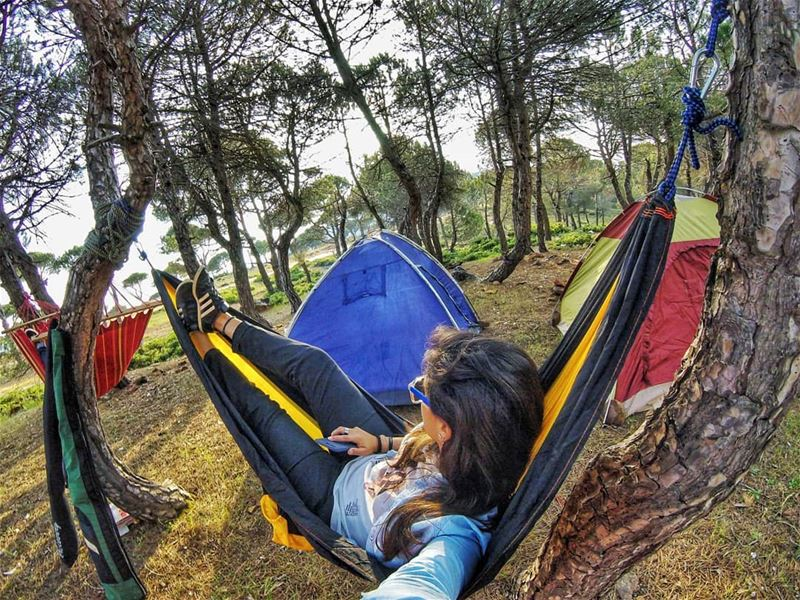 Comfort zone be like. hammock  camping  camplife  comfort  mothernature ... (Somewhere Anywhere)