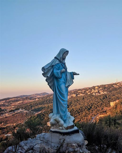 """I am the Lord's servant,"" Mary answered...Mary Month Of May...... (Annâya, Mont-Liban, Lebanon)"