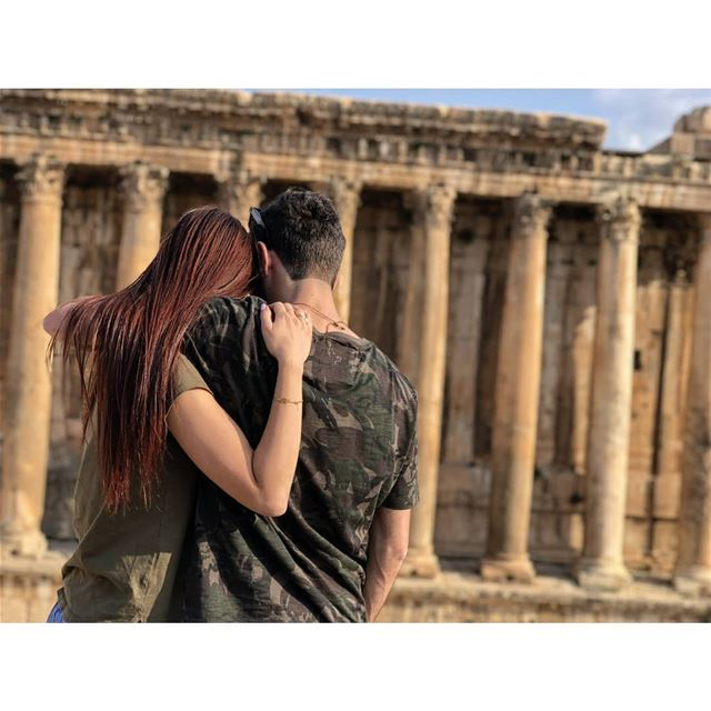 Step by step, side by side, we see the world! livelovelebanon ... (Baalbek , Roman Temple , Lebanon)