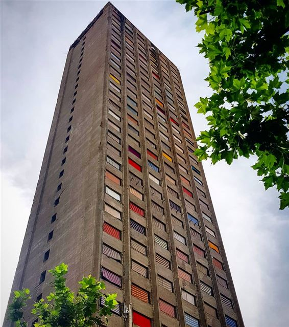 El Murr Tower:Construction stopped in 1975 with the start of the civil... (Beirut, Lebanon)