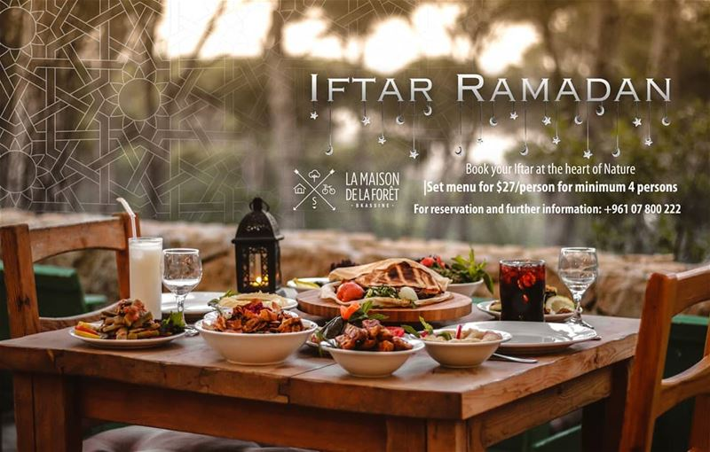 Break your fast with family and friends in the middle of the gorgeous Pine...