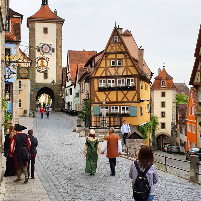 Very famous spot in Rothenburg named Friedrich-horner now can you see me??... (Rothenburg ob der Tauber)