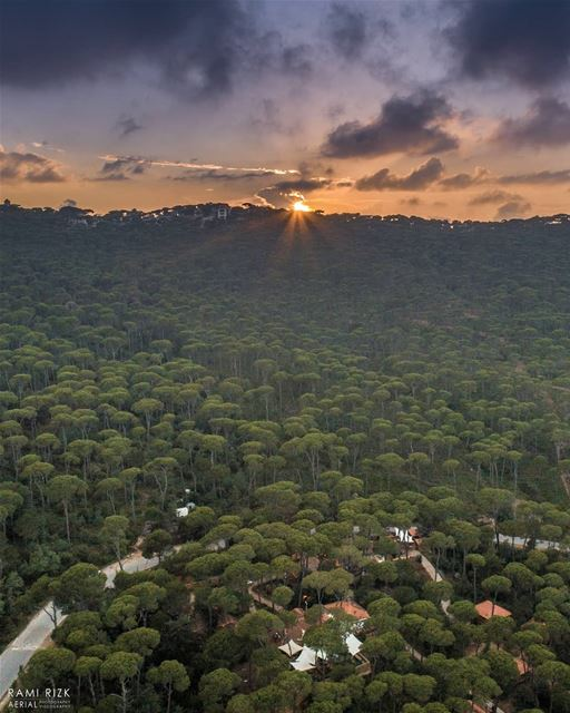 Goodbye sun see you tomorrow 🌄... jezzine  bkassine  lebanon  dji ... (Bkâssîne, Al Janub, Lebanon)