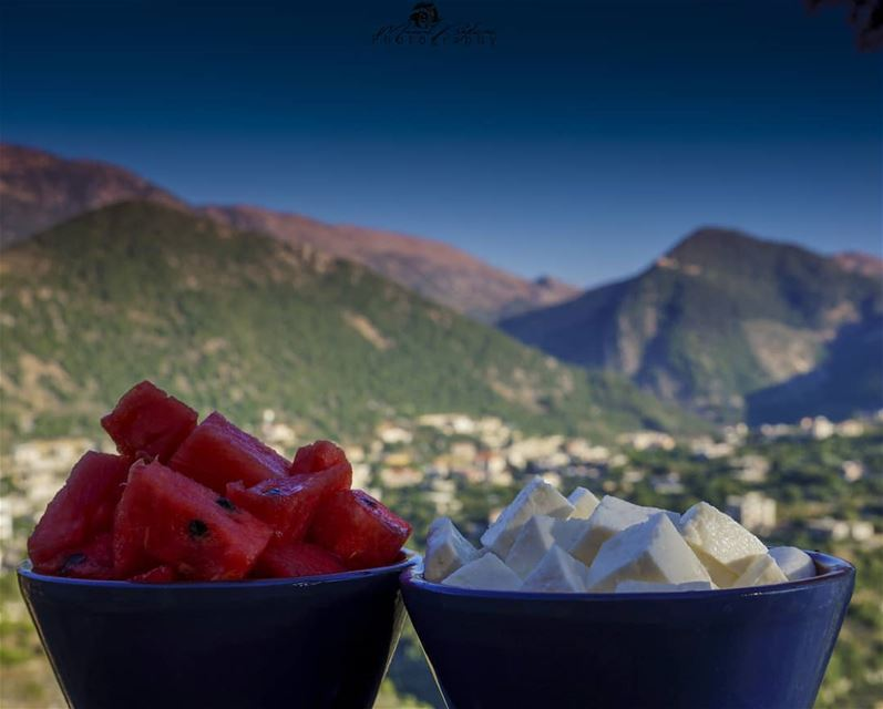 what about watermelon and cheese 🍉🧀• • •  chouf  shoufreserve  lebanon...