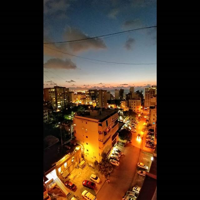 Now!.. sunset  beirut  lebanon  vacation  night  nightlights  sunrise ... (Beirut, Lebanon)