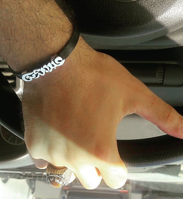 My Name In Arabic عبدالرحمن On A Leather Bracelet Hand Made
