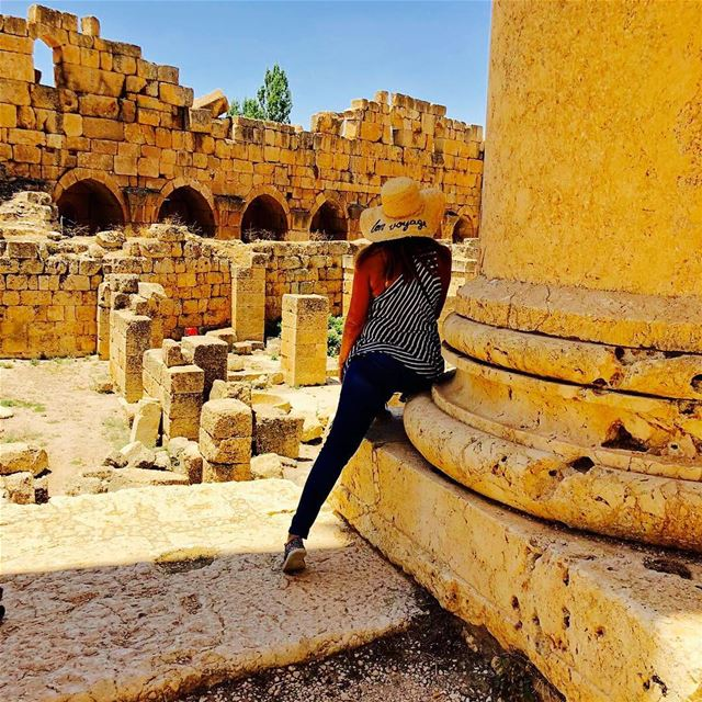 Enjoying the City of the Sun ☀️  baalbeck  ruins  amazing  place ...