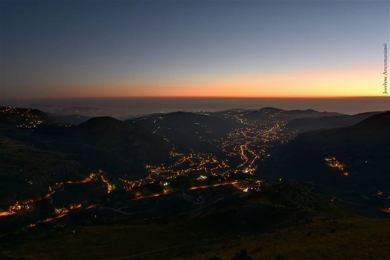 Every moment of light and dark are a miracle. night  lights  dark ... (Faraya, Mont-Liban, Lebanon)