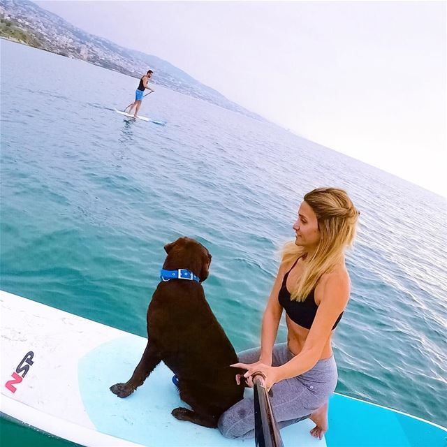 We miss stand up paddle boarding and we miss it with Benny, our favorite... (Jbeil-Byblos)