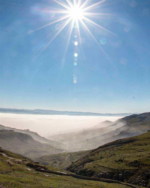 sunrise sun bluesky skyview abovetheclouds bekaavalley landscape nature... (Bekaa Valley)