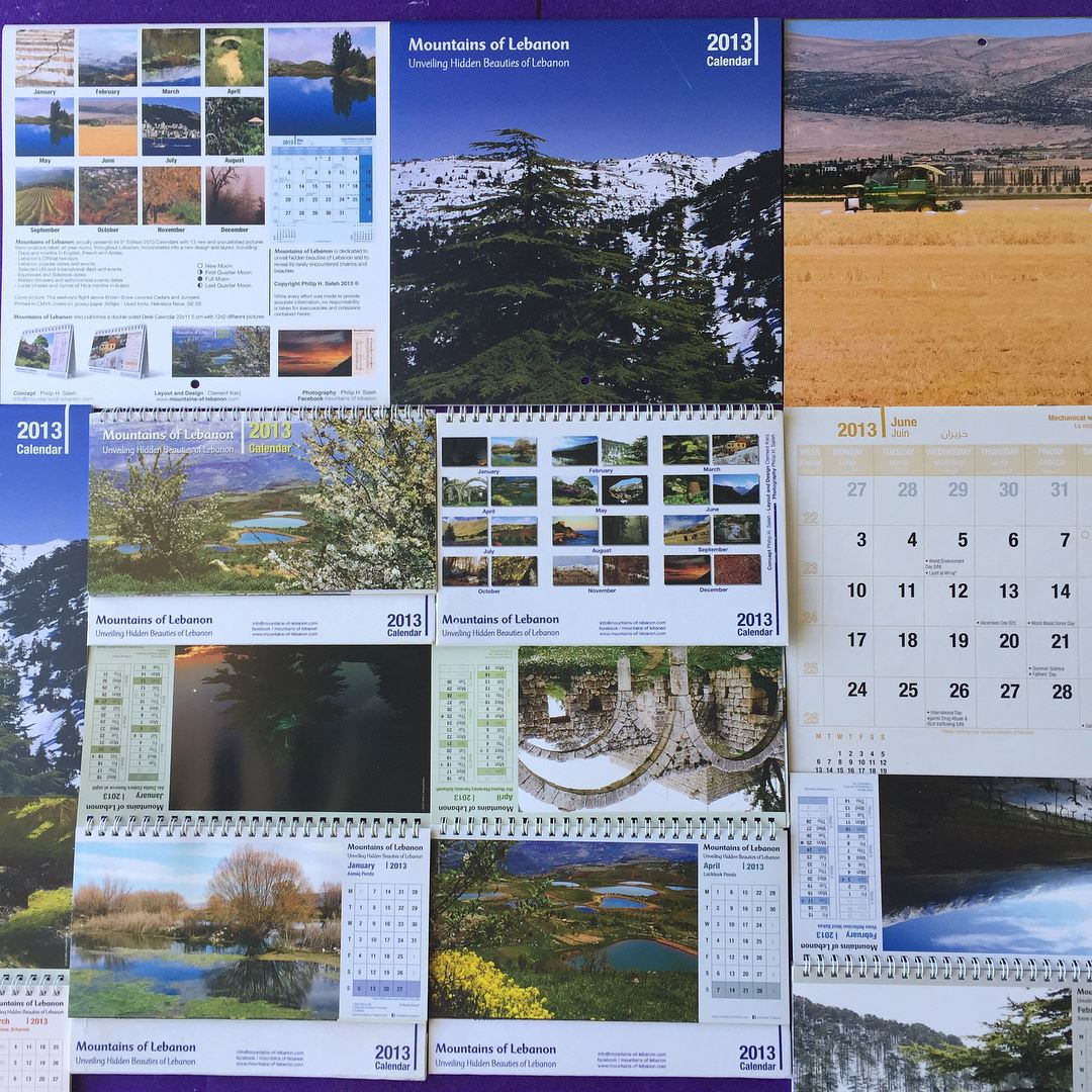 Calendar Lebanon : Celebrating years of mountainsoflebanon calendars