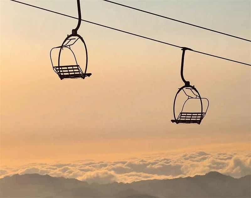 Over the clouds! clouds  sky  lift  goldenhour  swing  nature  panorama ... (Kfardebian,Mount Lebanon,Lebanon)
