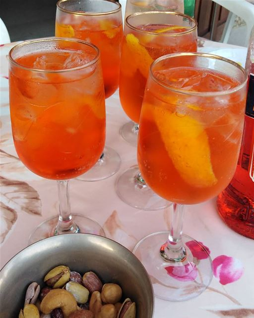 Cheers aperolspritz  aperol  chilling  mtein  mountains  freshair  drink ...