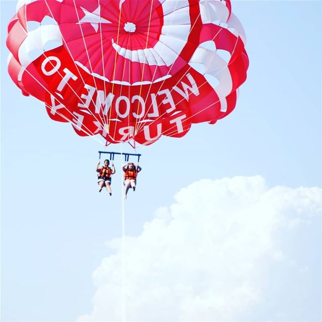 ✔Let it go fundayout  activities  outdooractivities  parasailing ... (Marmaris)