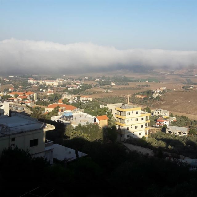 Morning ❤ village   fog  view  morning  lebanon ...