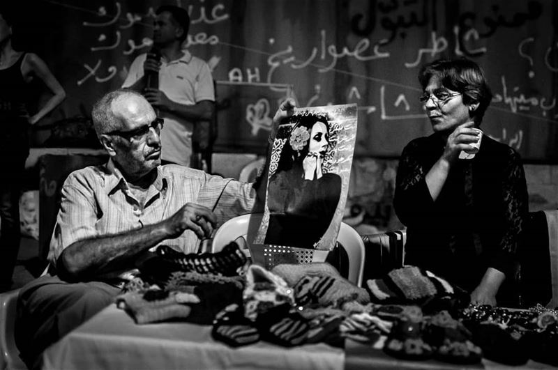 انا و فيروز و مرتي-During the you stink protests in beirut 2015 © Rudy... (Beirut, Lebanon)