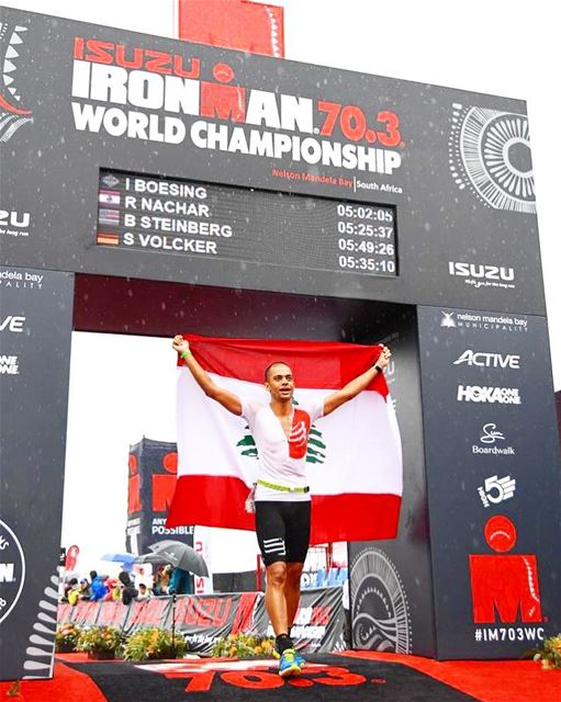 Honoured to carry our nation's flag Lebanon at the IRONMAN 70.3 World... (IRONMAN 70.3 World Championship)
