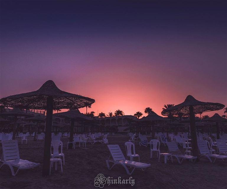 Beach at dawn .... lebanoninapicture  lbip  lbip2018  ptk_lebanon ... (Tyre-Sour At Beach)