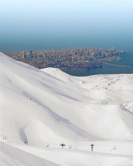 Only in Lebanon can you ski in the morning and waterski in the afternoon… � (Mzaar)