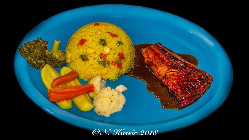 mycooking  homemade  homemadefood  salmon  fish  rice  veggies  food ...