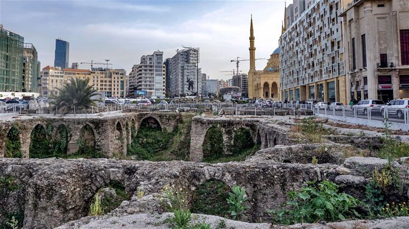 Beirut, Above and Below [Excavations in the center of Beirut reveal one of...