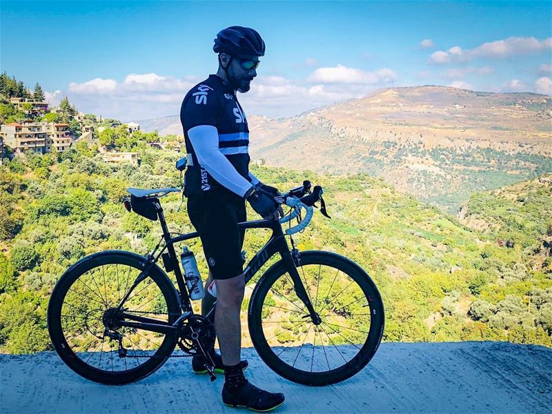 Throwback. 🌄🚵☀️ 📷 credits @waelrizk  cycling  cycle  cyclist ... (Jezzîne, Al Janub, Lebanon)