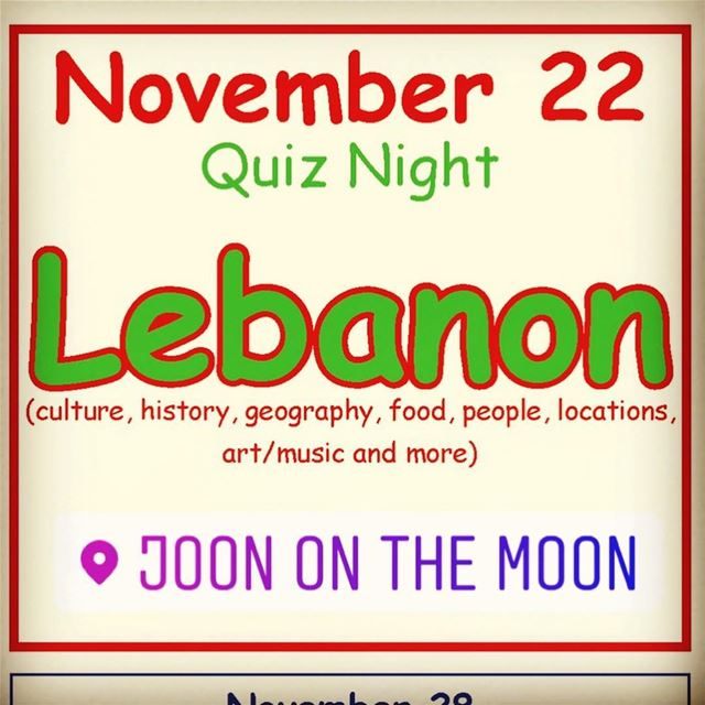 Did you prepare your team for the Lebanon Quiz Night? That's this... (Joon On The Moon)