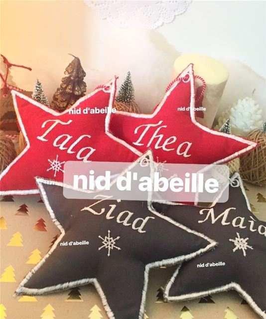 Star ornament 🌟Write it on fabric by nid d'abeille  star  round  angel ...