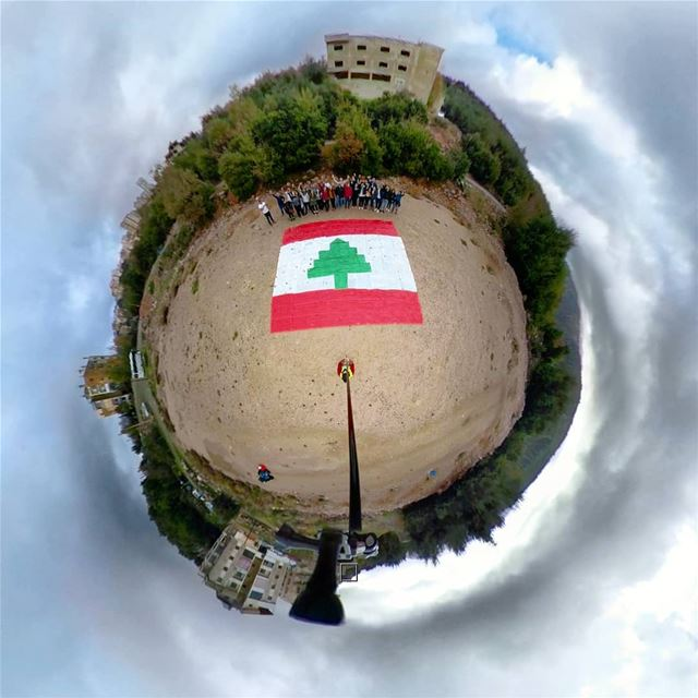 little national planet 💕.كلنا للوطن.Happy independence day.🌲🌲🌲🌲� (Kfardebian, Mont-Liban, Lebanon)