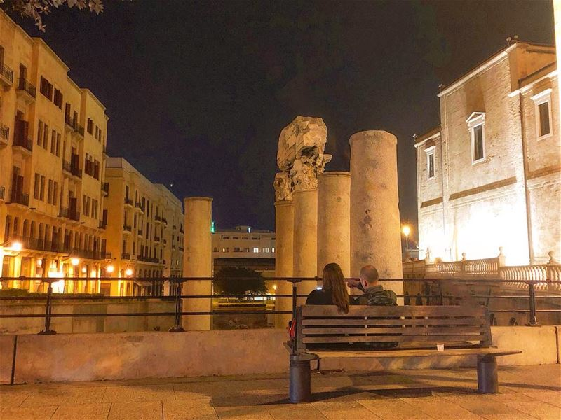 Night air, good conversation, and a sky full of stars can heal almost any... (Downtown Beirut)