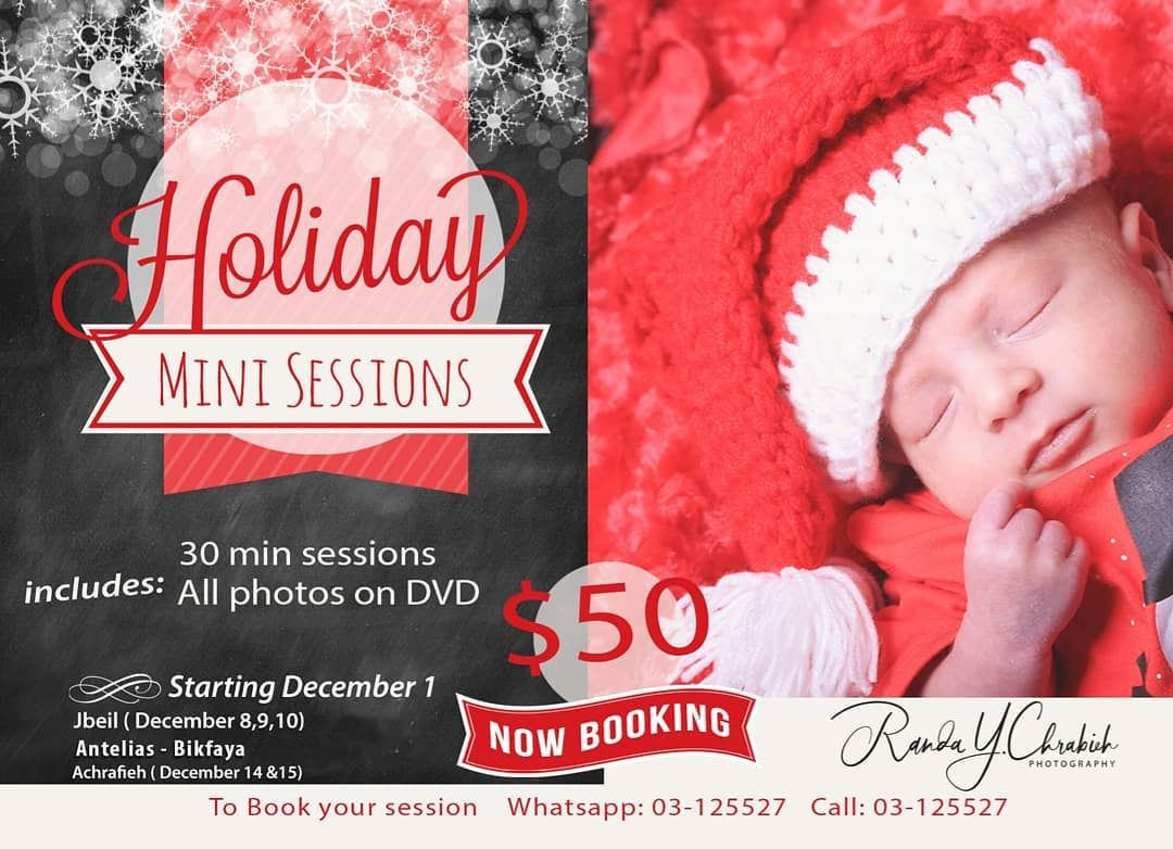 Book your Holiday Mini Sessions By Randa Y. Chrabieh 📸🎅at Jbeil /...