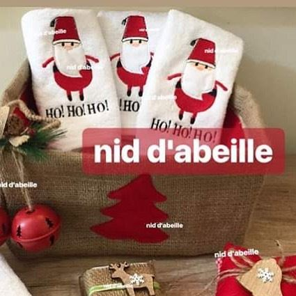 HoHoHo 🌲LEBANESE santa wearing his tarbouch ❤️Write it on fabric by nid d'