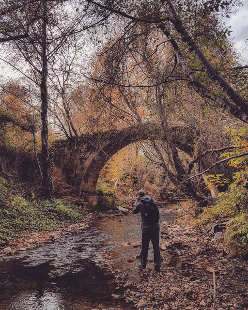 2018 last loveliest smile 🍁📸 @aline_grg  fall  autumn  hiking  river ... (Bisri, Al Janub, Lebanon)