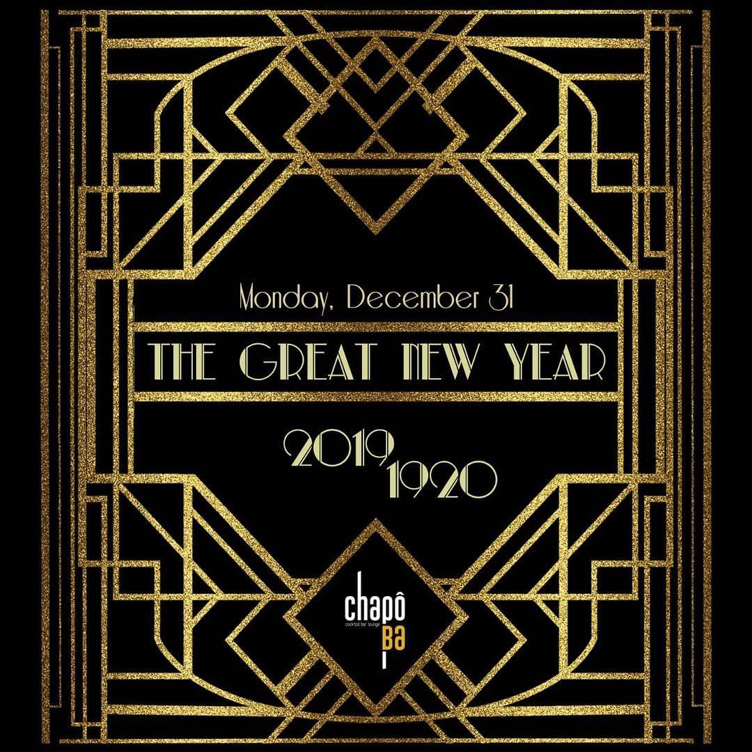 Ring in the New Year 2019 with an elegant flashback into the 1920s, a... (Chapô Ba)