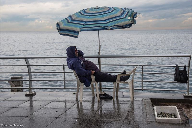 Take a break... snapped in  beirut  lebanon  seaside  fisherman  rest ...