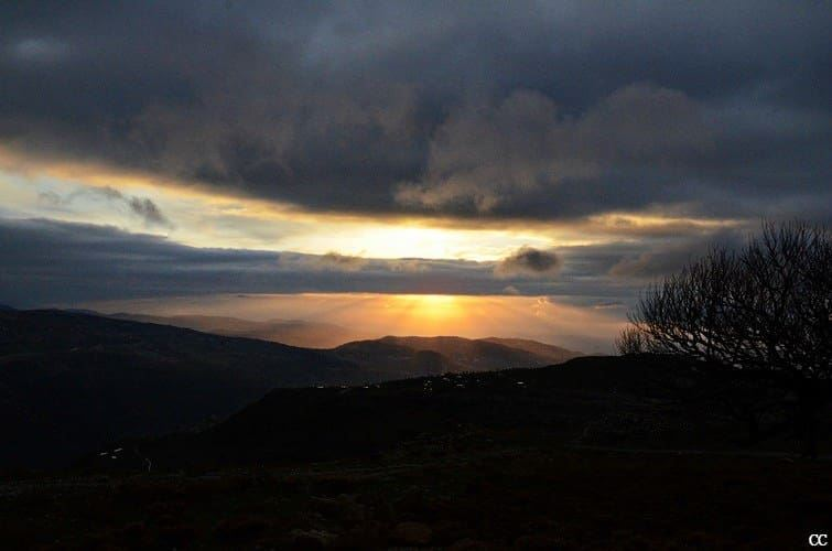 lebanon  sannine  sunset  scenery  sky  sun  clouds  colors ...