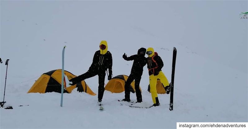 snow  snowcamp  mikesportleb  thenorthface  tent  ve25  freeze  cold ... (Ehden Adventures)