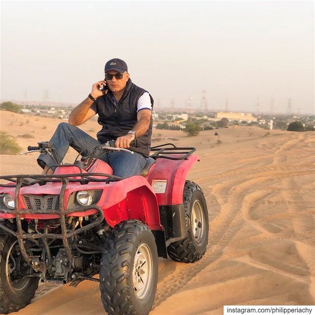 Every moment is a fresh beginning.... atv atvriding desert color call... (Umm al Qaiwain)
