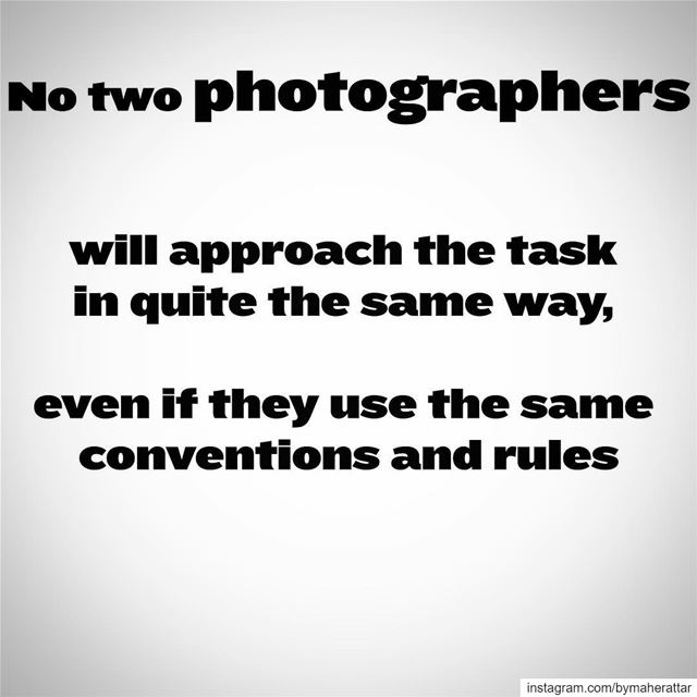 No two photographers will approach the task in quite the same way, even if...